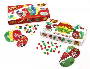 [IMG:] Jelly Belly® Special Edition UNO® and Apples to Apples® games Photos courtesy of Jelly Belly Candy Company